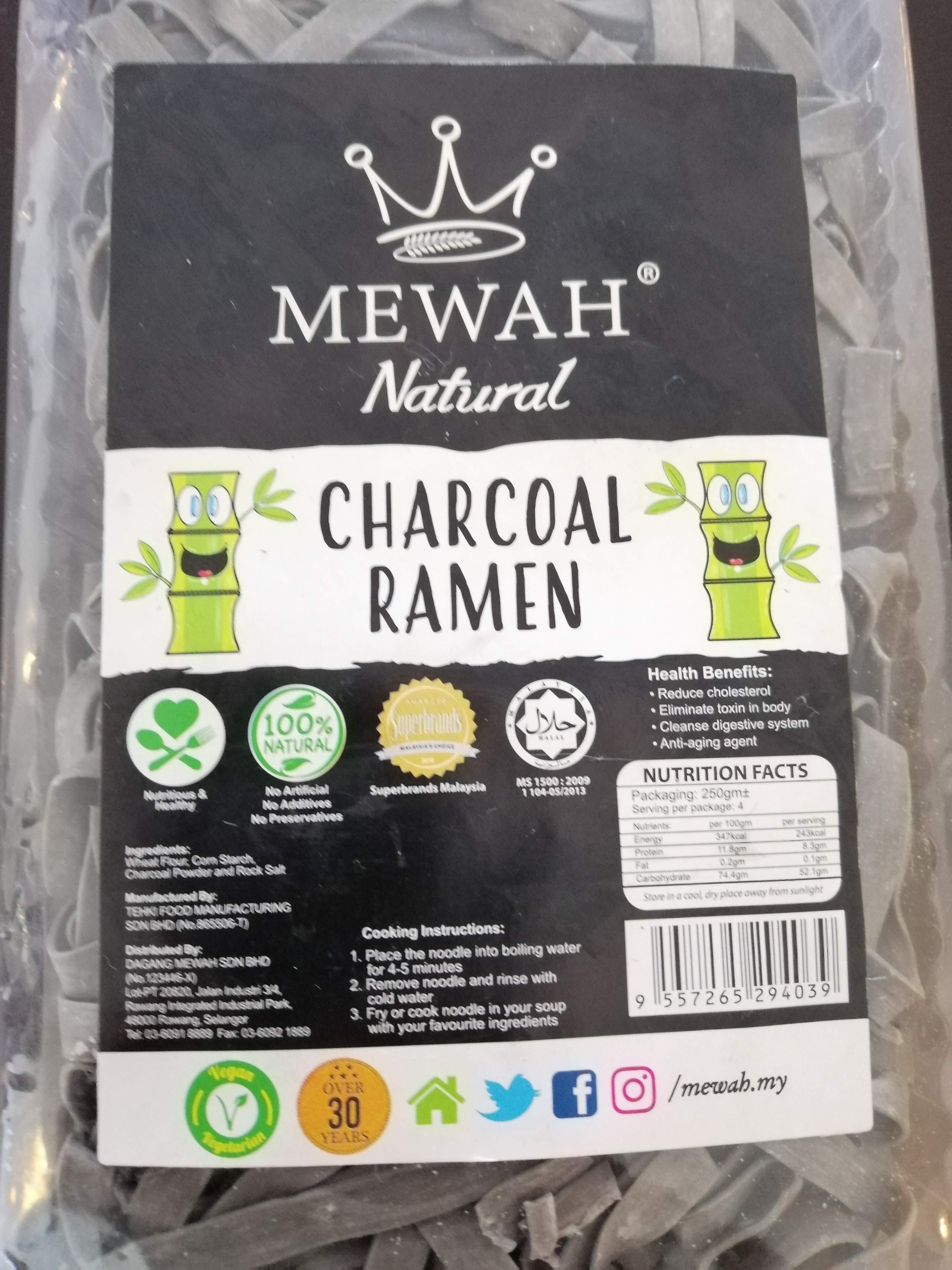 Charcoal ramen