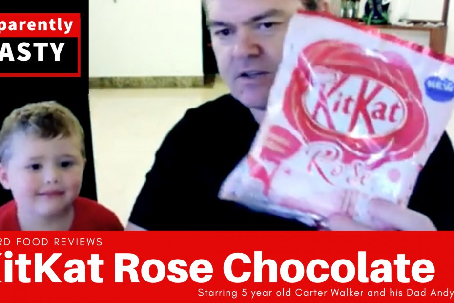 Kitkat Rose taste test