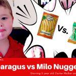 sea asparagus vs milo nuggets